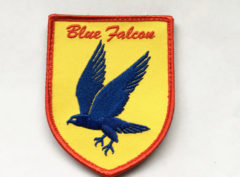 Blue Falcon Patch – Plastic Backing