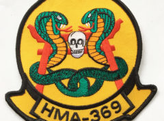 HMLA-369 Gunfighters Patch – Plastic Backing
