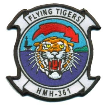 HMH-361 FLYING TIGERS Squadron Patch – Plastic Backing