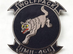 HMH-466 Wolfpack Patch – Plastic Backing