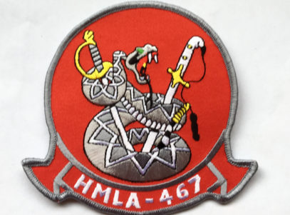 HMLA-467 Sabers Patch – Plastic Backing