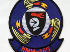 HMM-165 White Knights Patch – Plastic Backing