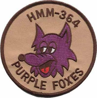 HMM-364 Purple Foxes (Tan) Squadron Patch