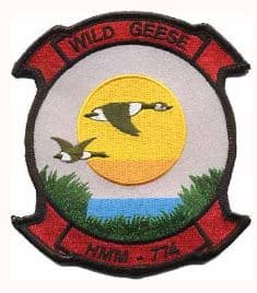 HMM-774 Wild Geese Patch – Plastic Backing