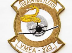 VMFA-323 Death Rattlers Patch – Plastic Backing