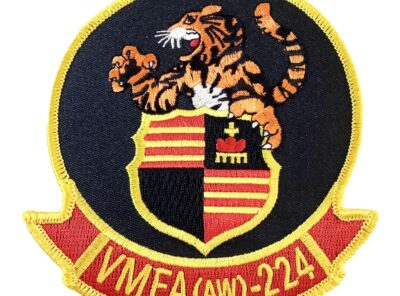 VMFA (AW)-224 Fighting Bengals Squadron Patch – Plastic Backing