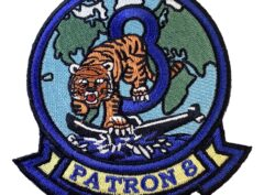 VP-8 Tigers Squadron Patch – Plastic Backing