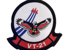 VT-21 Red Hawks Squadron Patch – Plastic Backing