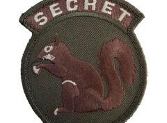 Secret Squirrel Patch – Plastic Backing