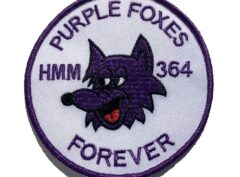 HMM-364 Purple Foxes Patch - Sew on
