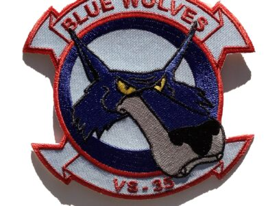 VS-35 Blue Wolves Squadron Patch – Sew On