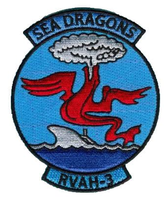 RVAH-3 Sea Dragons Squadron Patch