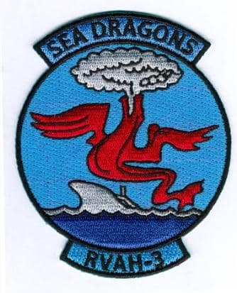RVAH-3 Sea Dragons Squadron Patch – Plastic Backing