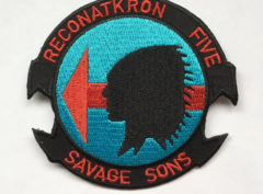 RVAH-5 Savage Sons Squadron Patch – Plastic Backing