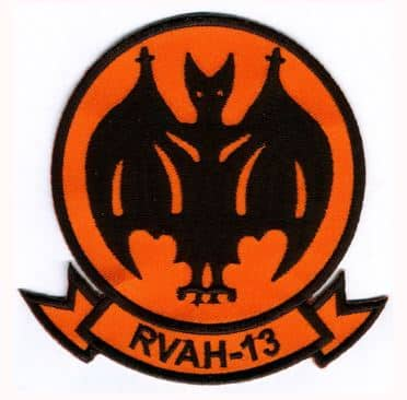 U.S. Navy RVAH-13 Bats Squadron Patch – Plastic Backing