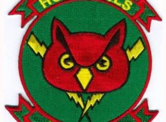 U.S. Navy RVAH-9 Hoot Owls Squadron Patch – Plastic Backing