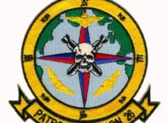 U.S. Navy VP-26 Tridents Squadron Patch – Plastic Backing