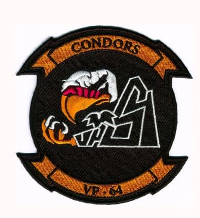 U.S. Navy VP-64 Condors Squadron Patch – Plastic Backing