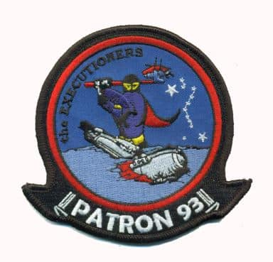 U.S. Navy VP-93 Executioners Squadron Patch Plastic Backing