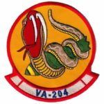 VA-204 River Rattlers Squadron Patch – Plastic Backing
