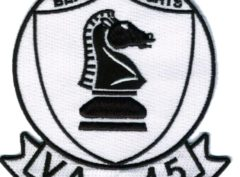 VA-45 Black Knights Squadron Patch – Plastic Backing