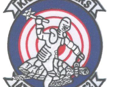 VA-52 Knight Riders Squadron Patch - Plastic Backing