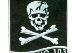 VF-103 Jolly Rogers Squadron Patch – Plastic Backing