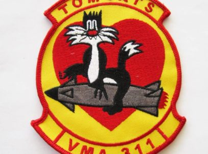 VMA (AW)-311 Tomcats Squadron Patch – Plastic Backing