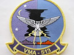 VMA-513 Flying Nightmares Patch – Plastic Backing
