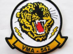 VMA-542 Tigers Squadron Patch – Plastic Backing