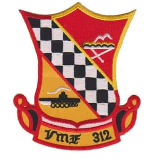 VMF-312 Checkerboards Patch – Plastic Backing