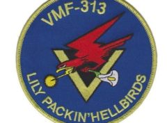 VMF-313 Lily Packin' Hellbirds Patch – Plastic Backing
