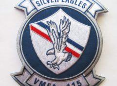 VMFA-115 Silver Eagles Squadron Patch – Plastic Backing