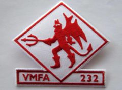 VMFA-232 Red Devils Squadron Patch – Plastic Backing