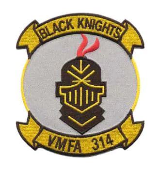 VMFA-314 Black Knights Patch – Plastic Backing