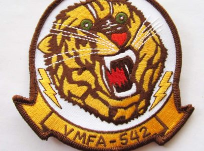 VMFA-542 Tigers Squadron Patch – Plastic Backing