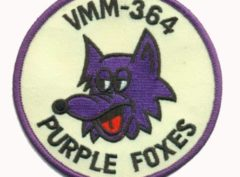 VMM-364 Purple Foxes Squadron Patch – Plastic Backing