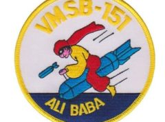 VMSB-151 Squadron Patch – Plastic Backing
