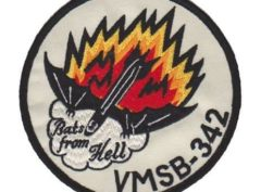 VMSB-342 Bats from Hell Patch – Plastic Backing