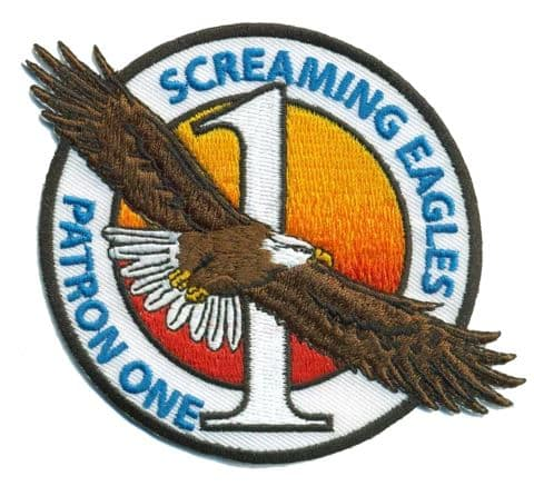 USN NAVY VP-1 PATRON ONE PATCH SCREAMING EAGLES P-3 ORION WHIDBEY ISLAND WA