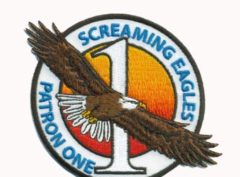 VP-1 Screaming Eagles Squadron Patch – Plastic Backing