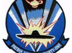 U.S. Navy VP-31 Black Lightning Squadron Patch – Plastic Backing