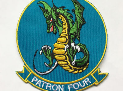 VP-4 Skinny Dragons Squadron Patch – Plastic Backing