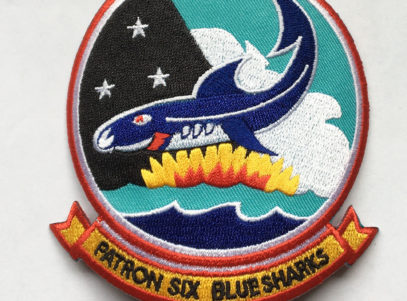 VP-6 Blue Sharks Squadron Patch – Plastic Backing
