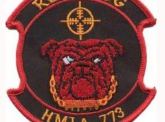 HMLA-773 Red Dog Patch – Plastic Backing