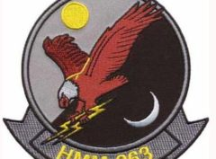 HMM-263 Thunder Chickens Patch – Plastic Backing