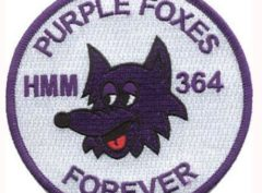 HMM-364 Purple Foxes Patch – Sew on