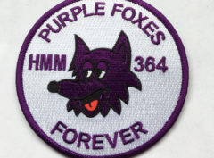 HMM-364 Purple Foxes Patch - Plastic Backing