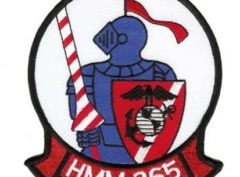 HMM-365 Blue Knights Patch – Plastic Backing