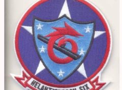 HS-6 Indians Squadron Patch – Plastic Backing